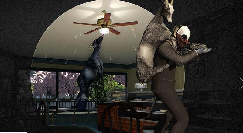 《收获日2》本月大更新 模拟山羊乱入 搞笑抢劫开始